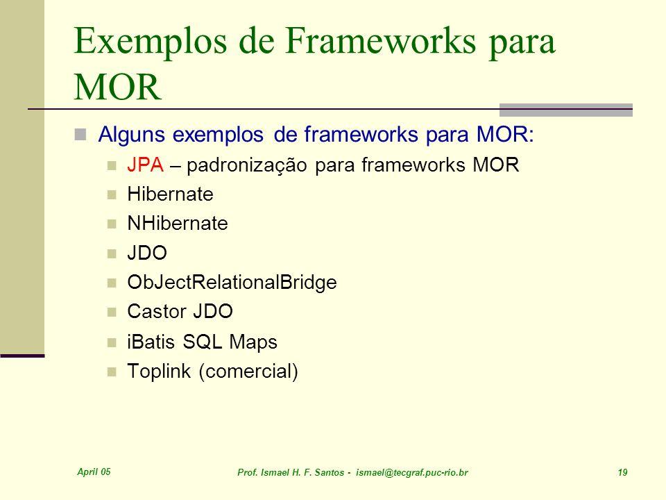 Exemplos de Frameworks para MOR