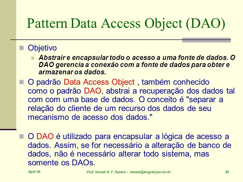 Pattern Data Access Object (DAO)