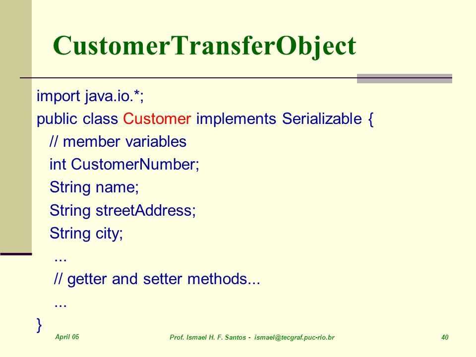 CustomerTransferObject
