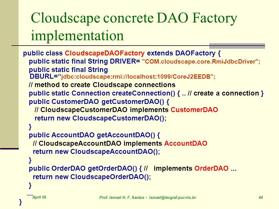 Cloudscape concrete DAO Factory implementation