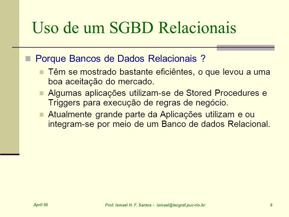 Uso de um SGBD Relacionais