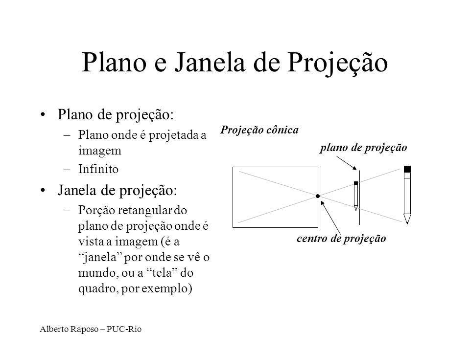 Plano e Janela de Projeção