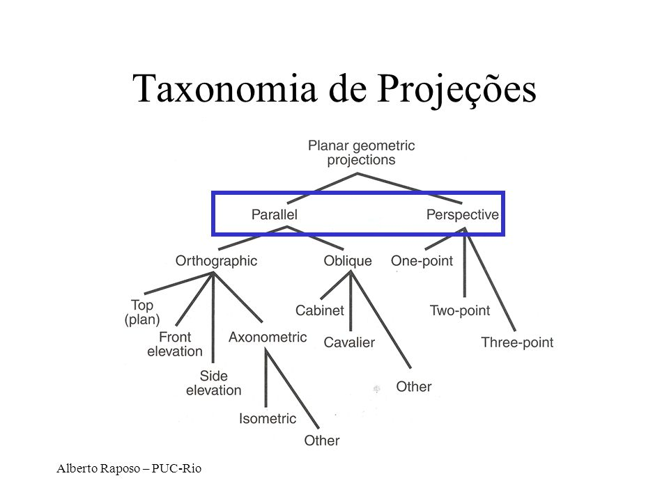 Taxonomia de Projeções