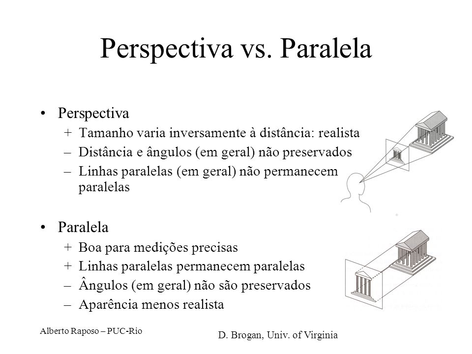Perspectiva vs. Paralela