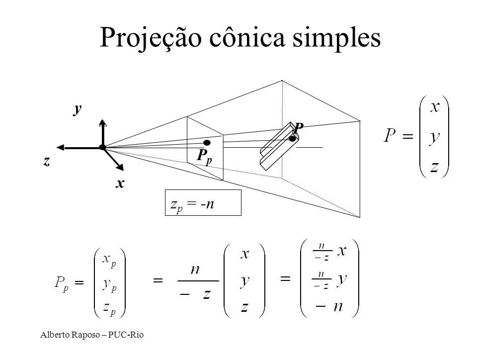 Projeção cônica simples