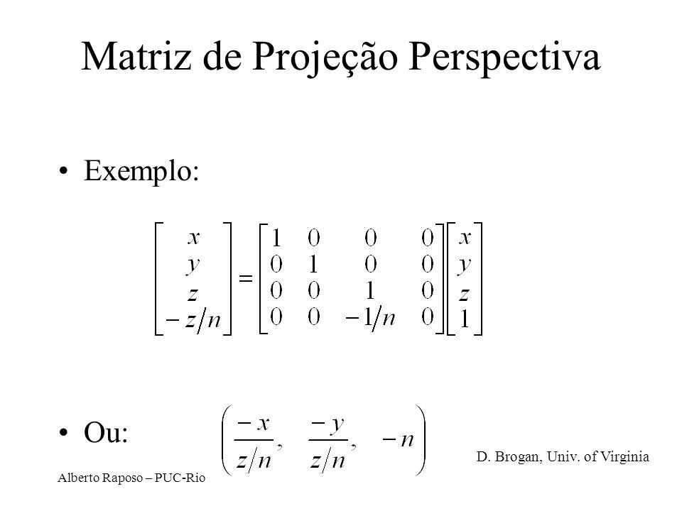 Matriz de Projeção Perspectiva