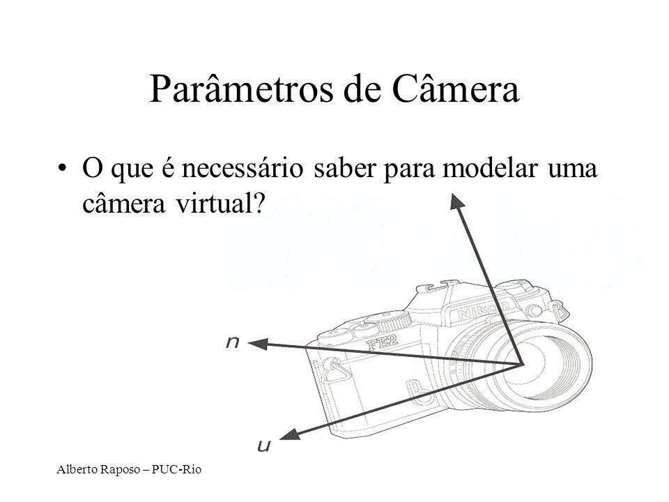 Parâmetros de Câmera O que é necessário saber para modelar uma câmera virtual.