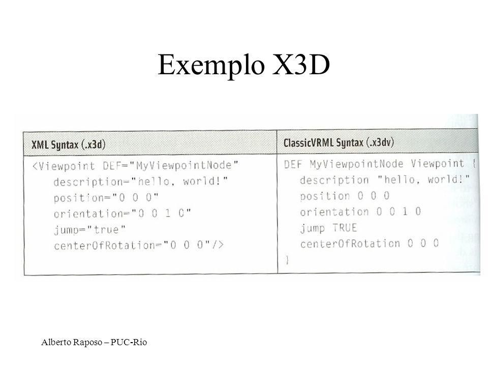 Exemplo X3D Alberto Raposo – PUC-Rio