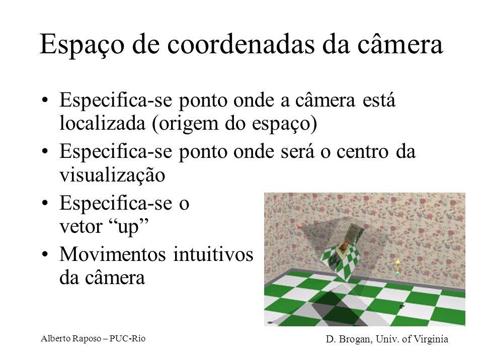 Espaço de coordenadas da câmera