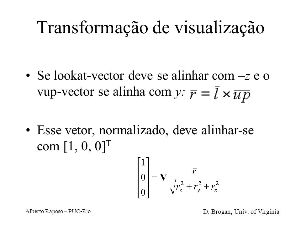 Transformação de visualização