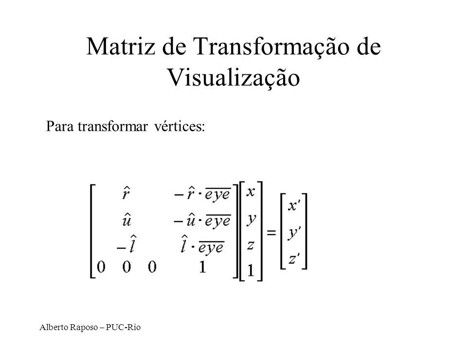 Matriz de Transformação de Visualização