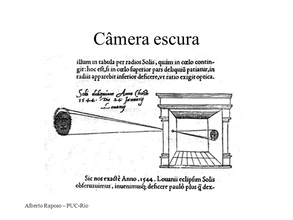 Câmera escura Alberto Raposo – PUC-Rio