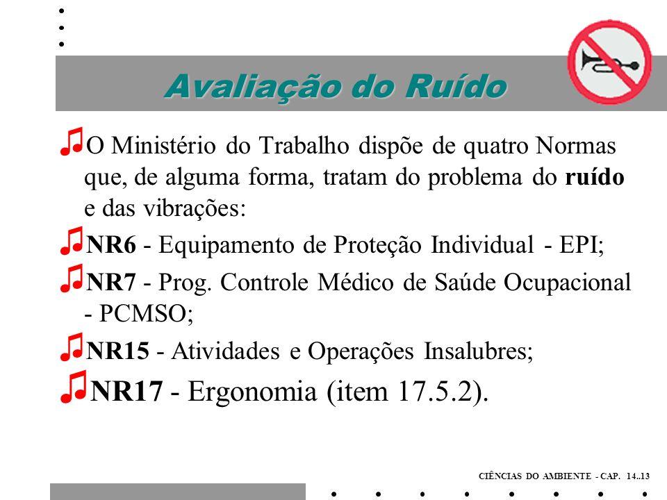 Avaliação do Ruído NR17 - Ergonomia (item 17.5.2).