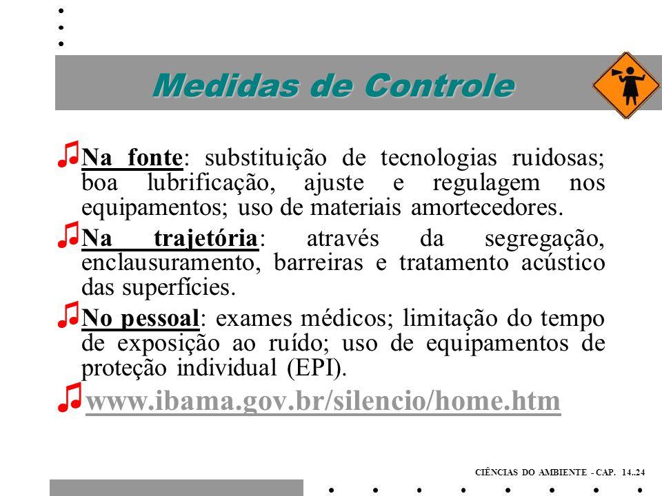 Medidas de Controle www.ibama.gov.br/silencio/home.htm