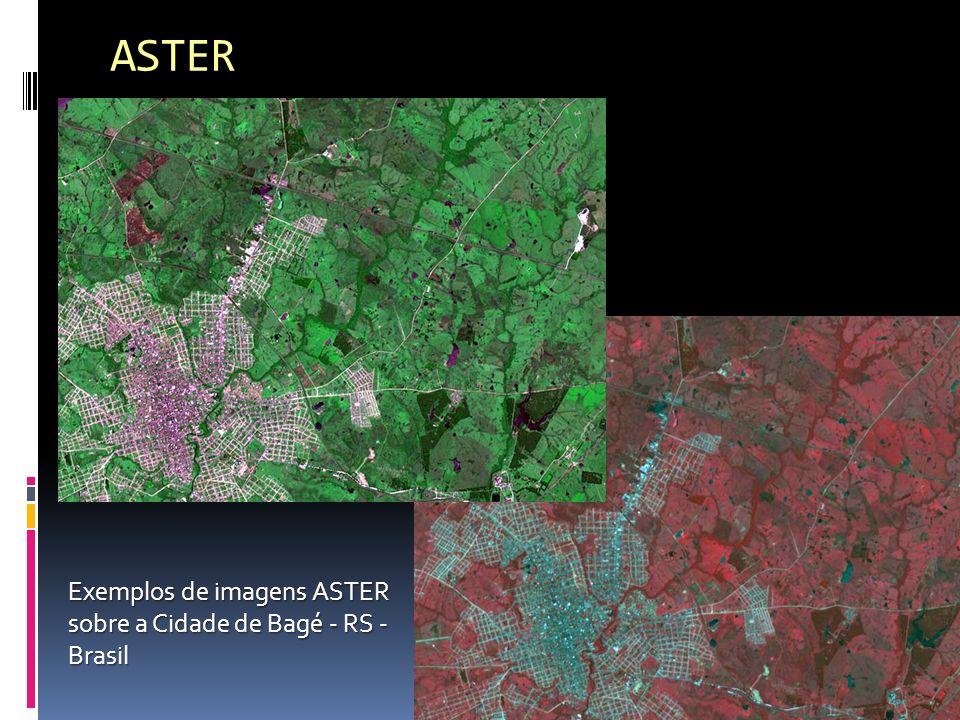 ASTER Exemplos de imagens ASTER sobre a Cidade de Bagé - RS - Brasil