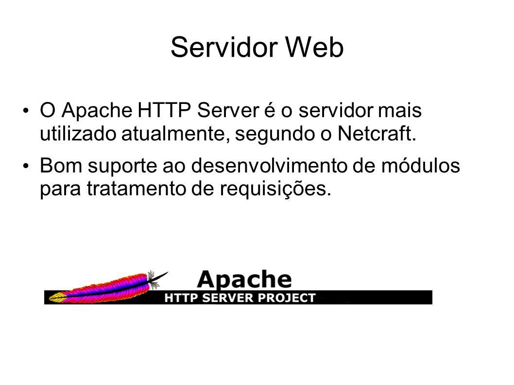 Servidor Web O Apache HTTP Server é o servidor mais utilizado atualmente, segundo o Netcraft.