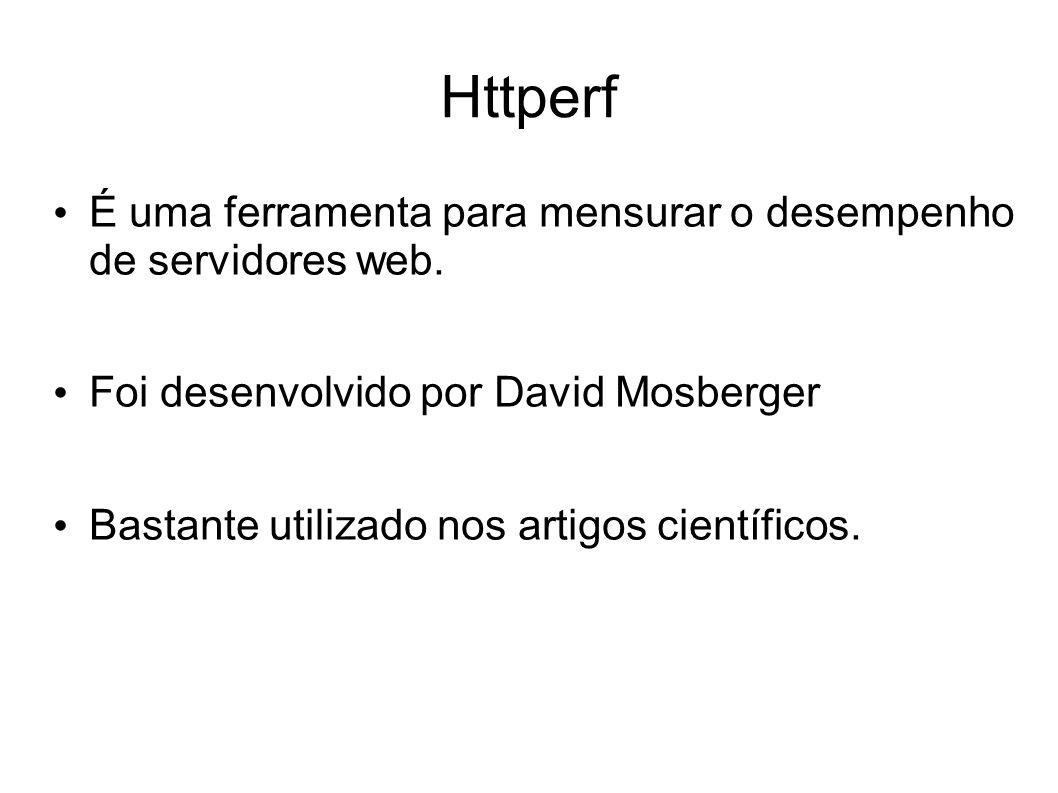 Httperf É uma ferramenta para mensurar o desempenho de servidores web.