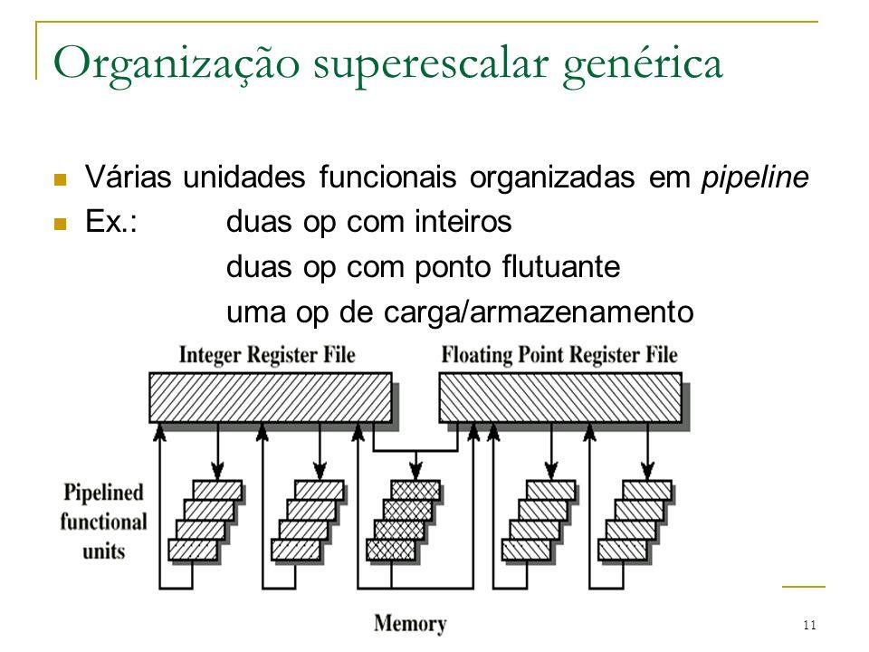 Organização superescalar genérica