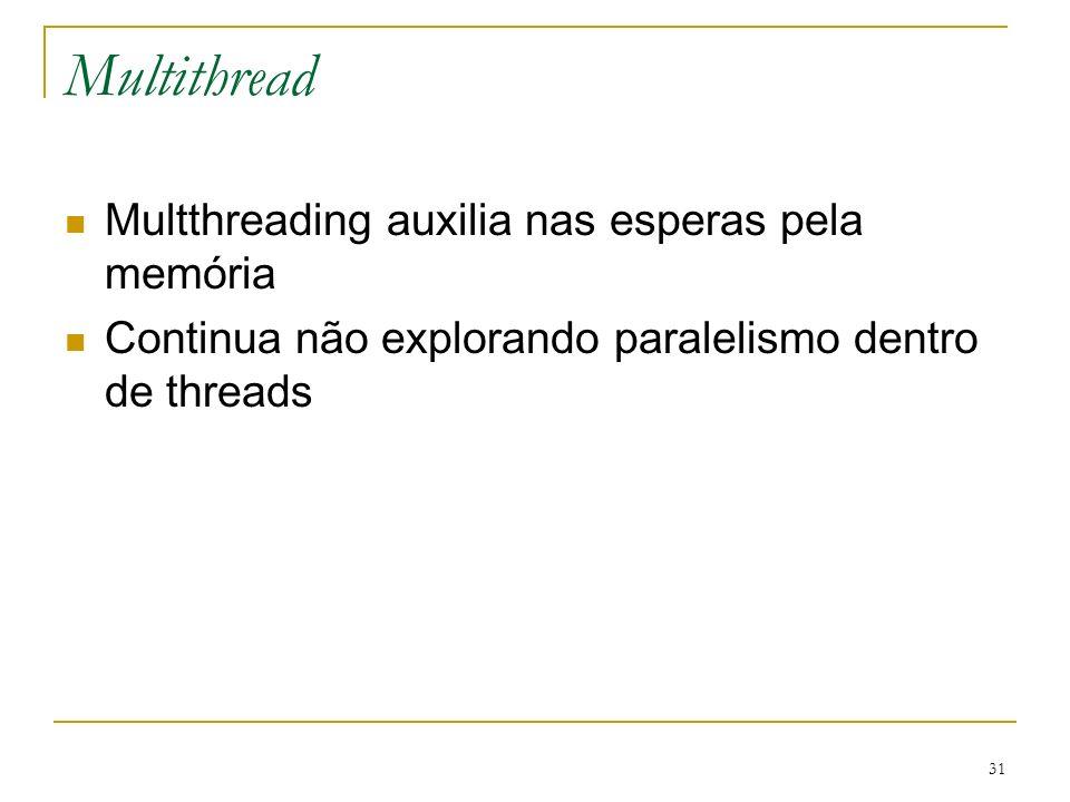 Multithread Multthreading auxilia nas esperas pela memória