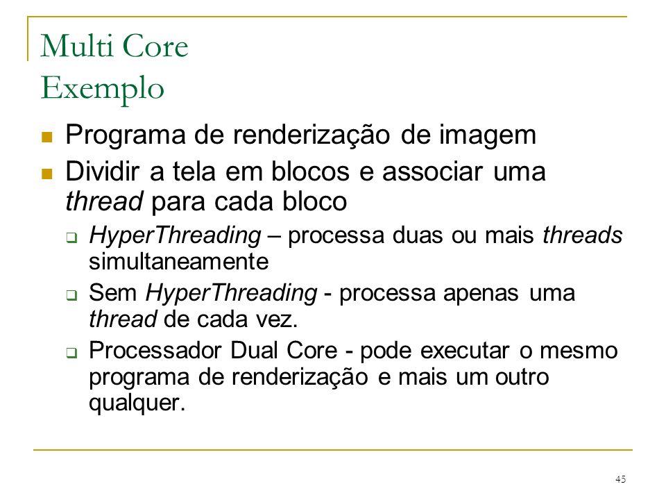 Multi Core Exemplo Programa de renderização de imagem