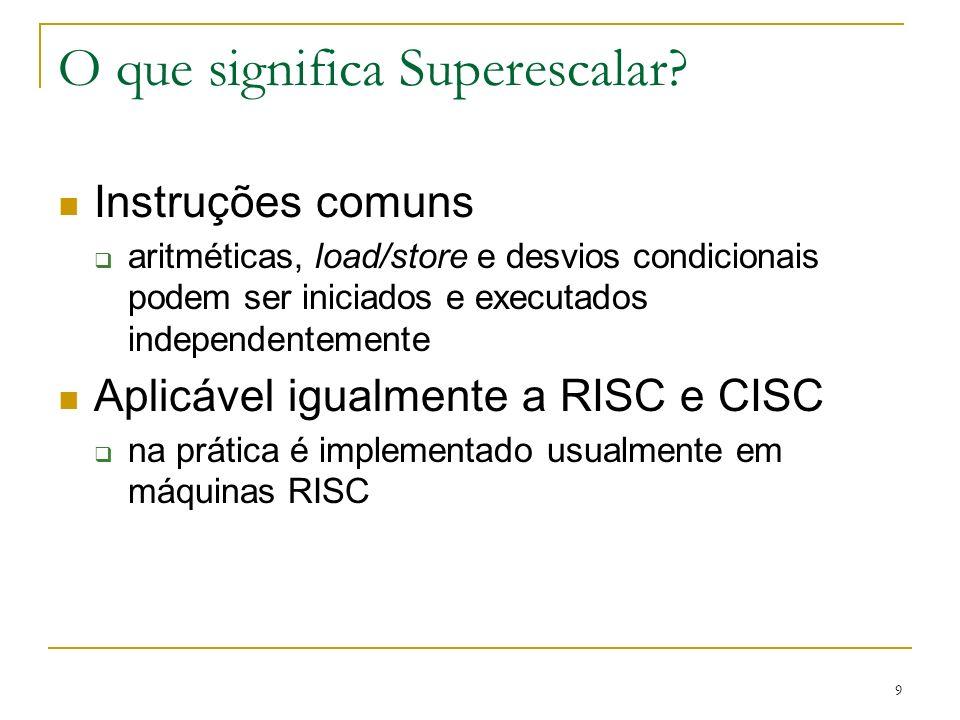 O que significa Superescalar