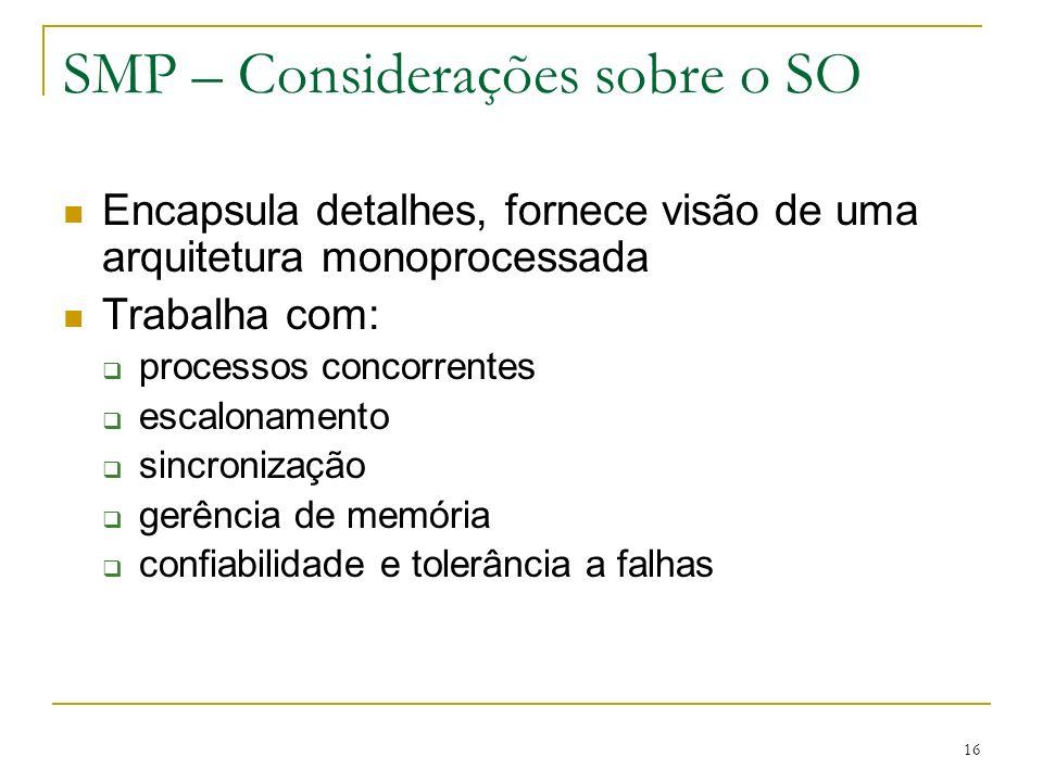 SMP – Considerações sobre o SO