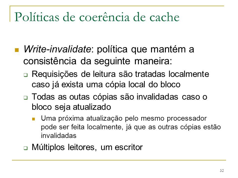 Políticas de coerência de cache