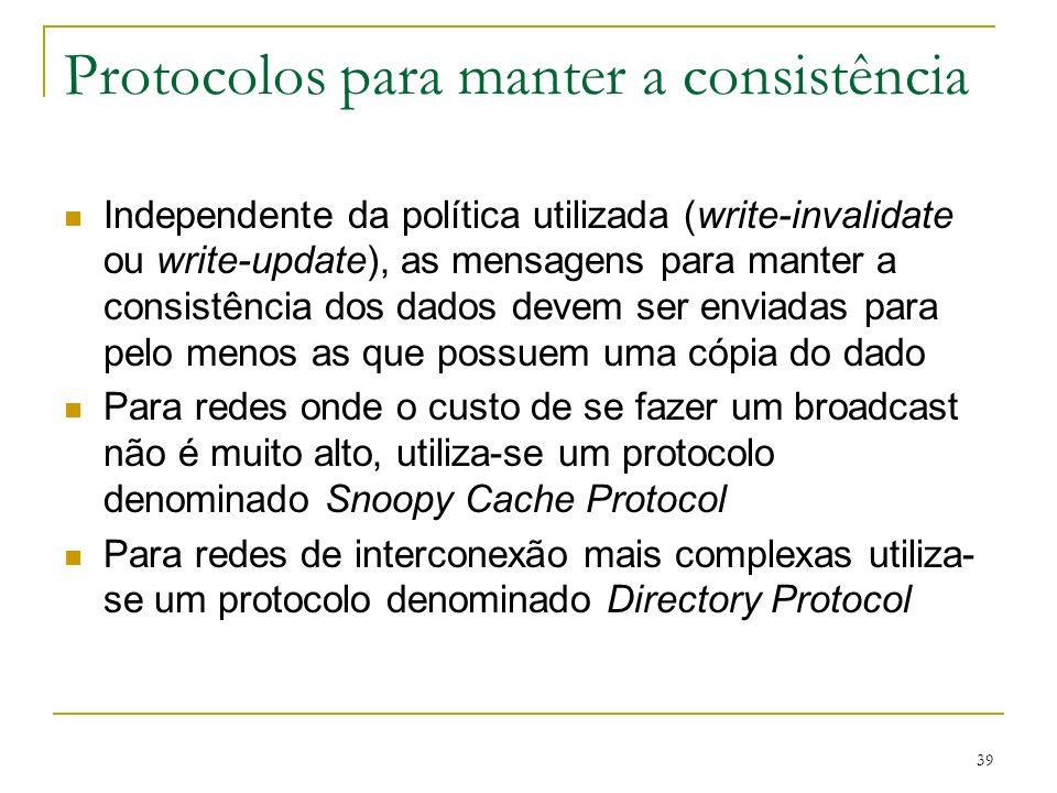 Protocolos para manter a consistência