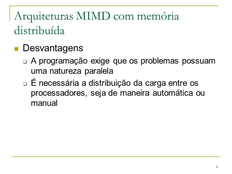 Arquiteturas MIMD com memória distribuída