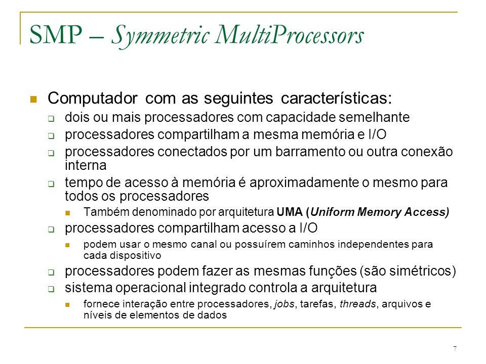 SMP – Symmetric MultiProcessors