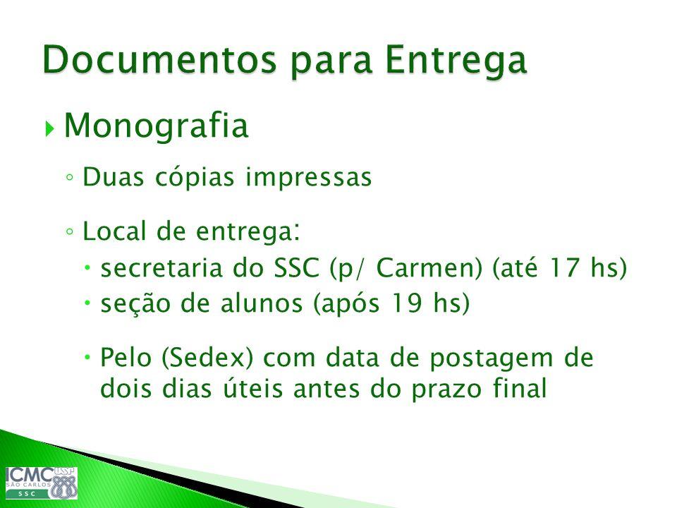 Documentos para Entrega