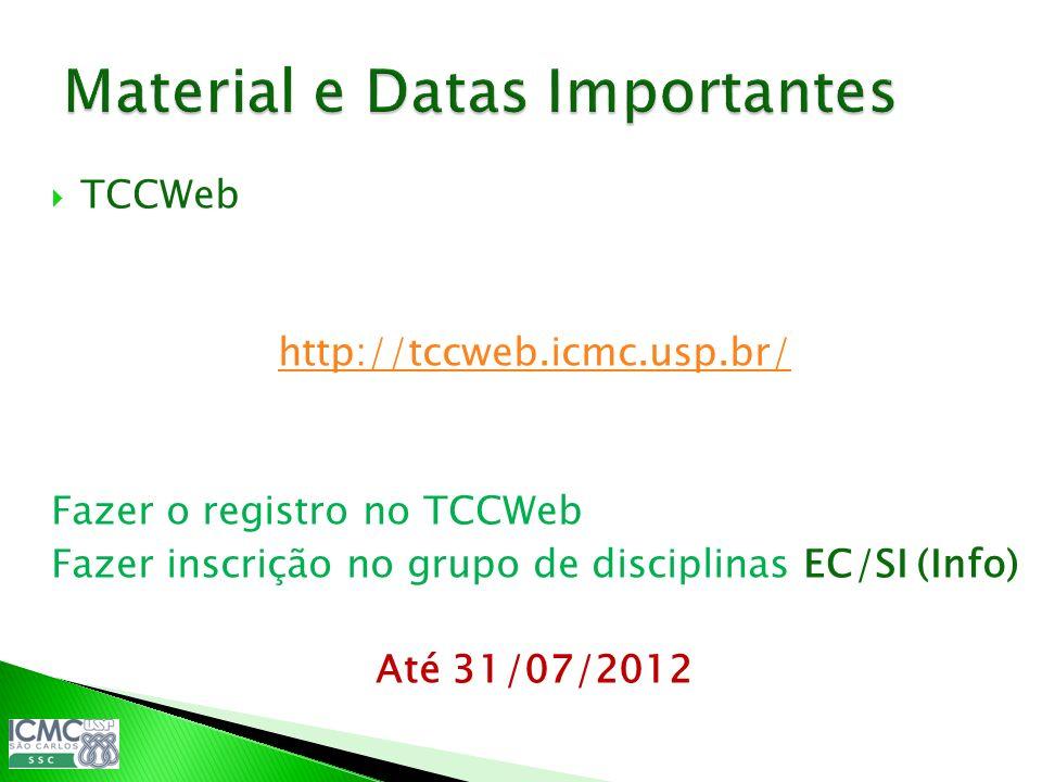 Material e Datas Importantes