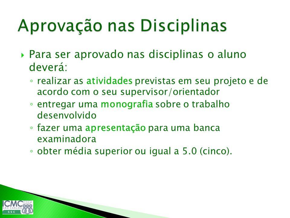 Aprovação nas Disciplinas