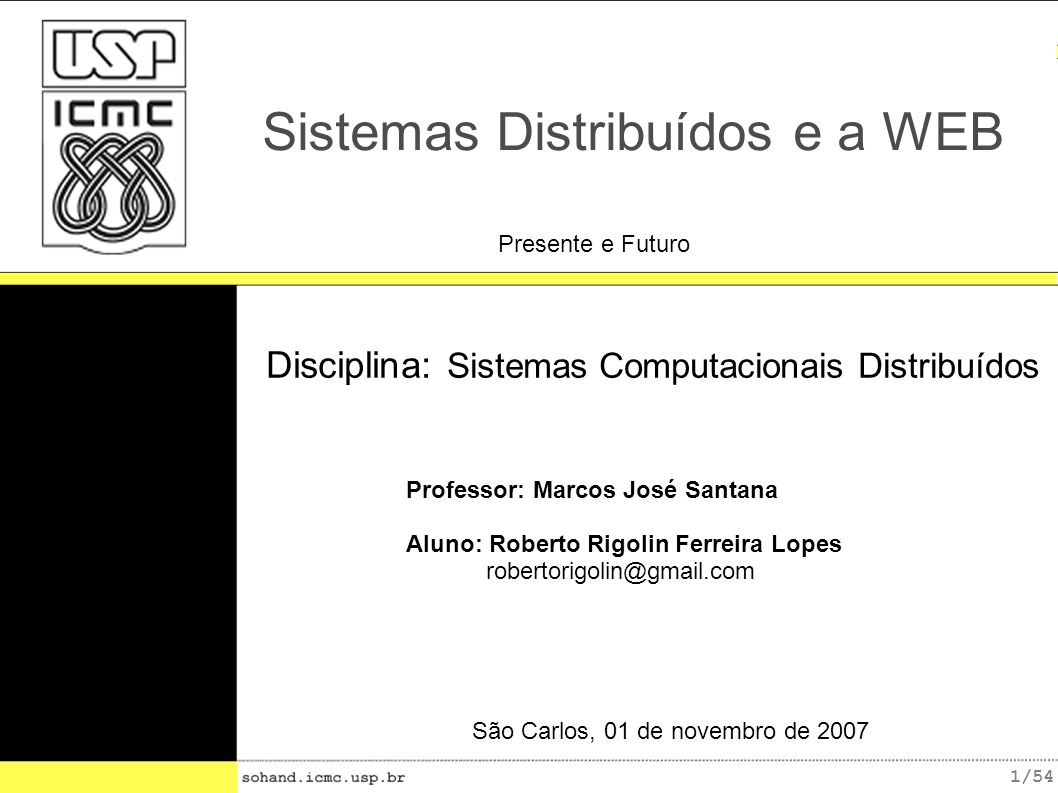Sistemas Distribuídos e a WEB