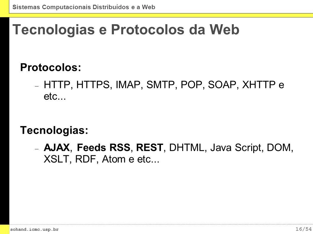 Tecnologias e Protocolos da Web
