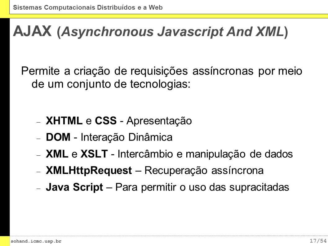 AJAX (Asynchronous Javascript And XML)