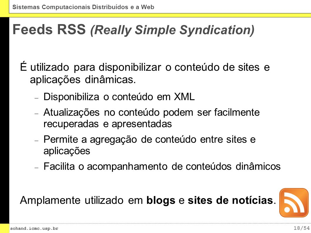 Feeds RSS (Really Simple Syndication)