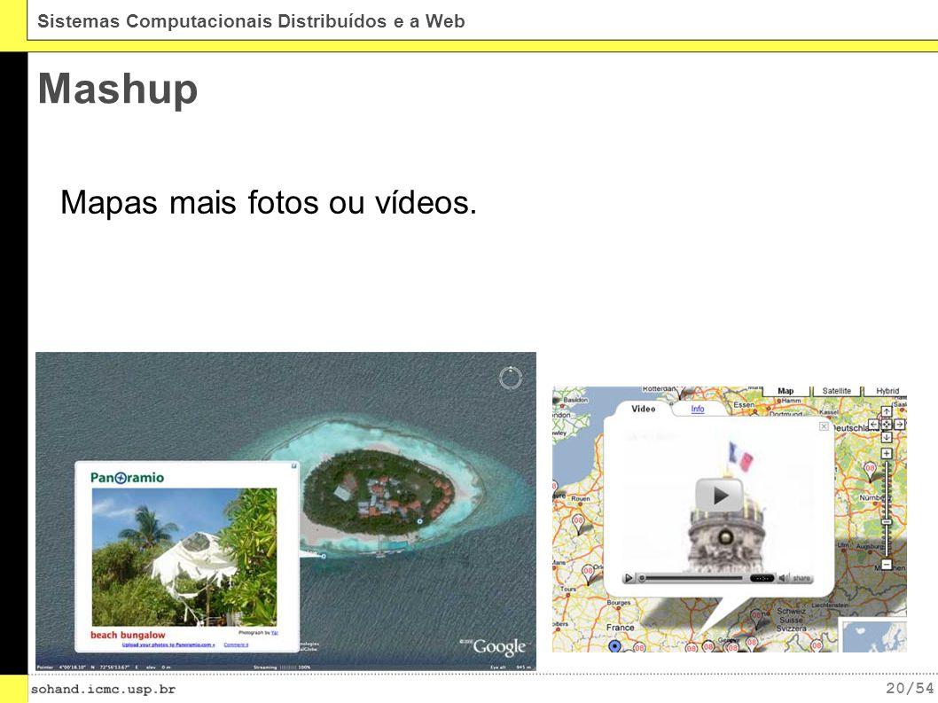 Mashup Mapas mais fotos ou vídeos.