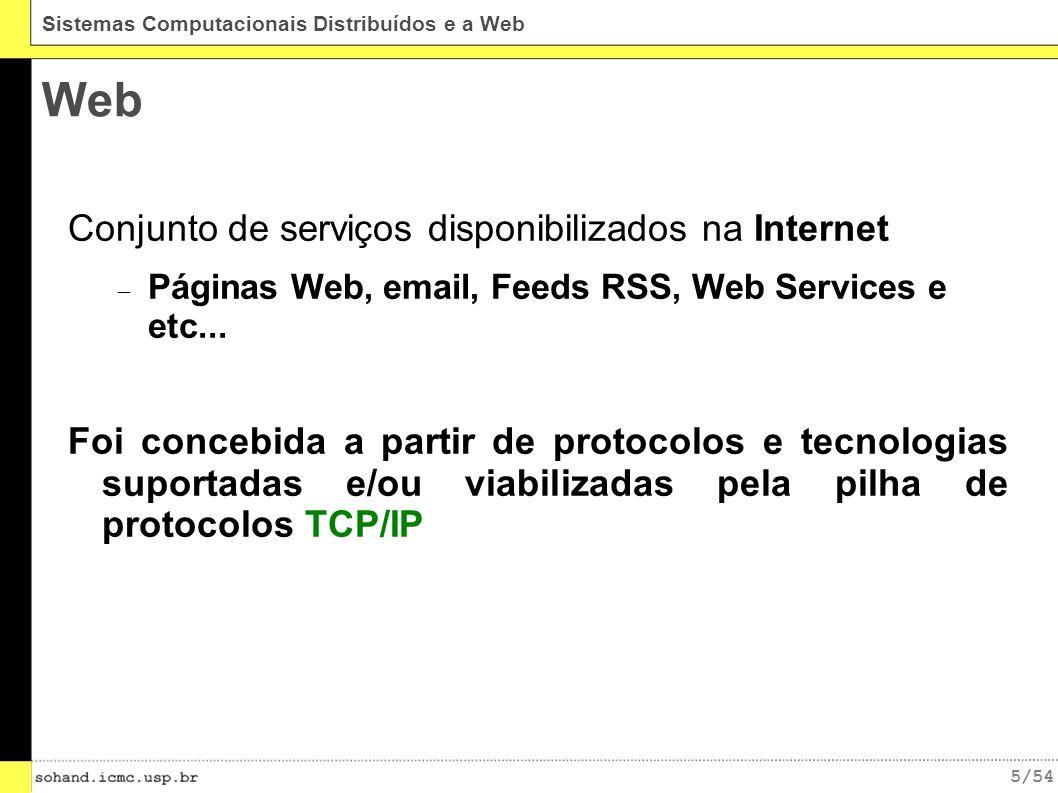 Web Conjunto de serviços disponibilizados na Internet
