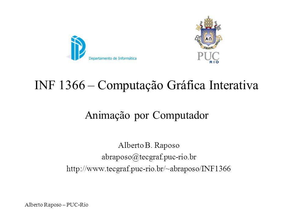 INF 1366 – Computação Gráfica Interativa Animação por Computador