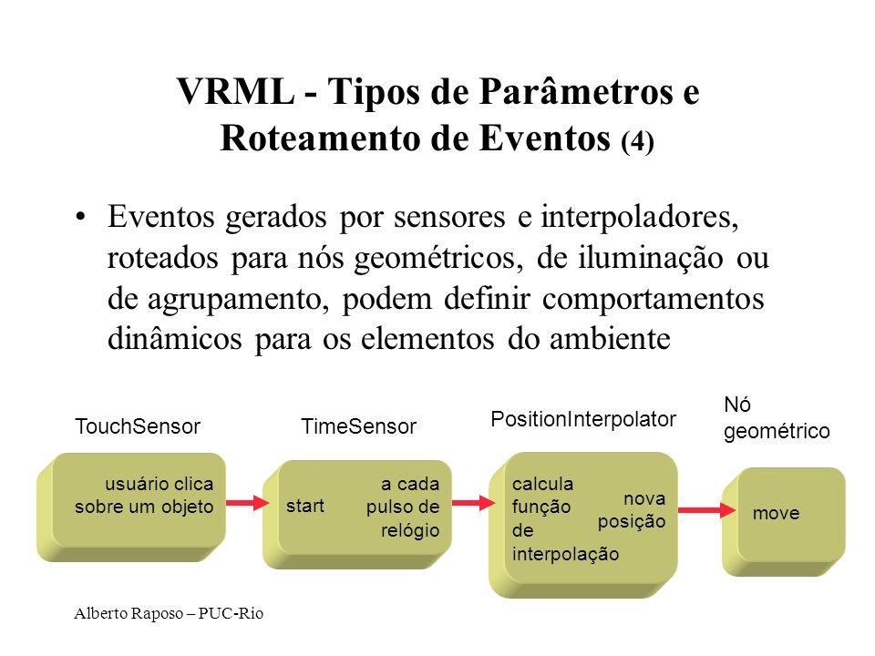 VRML - Tipos de Parâmetros e Roteamento de Eventos (4)