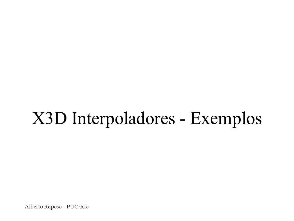 X3D Interpoladores - Exemplos