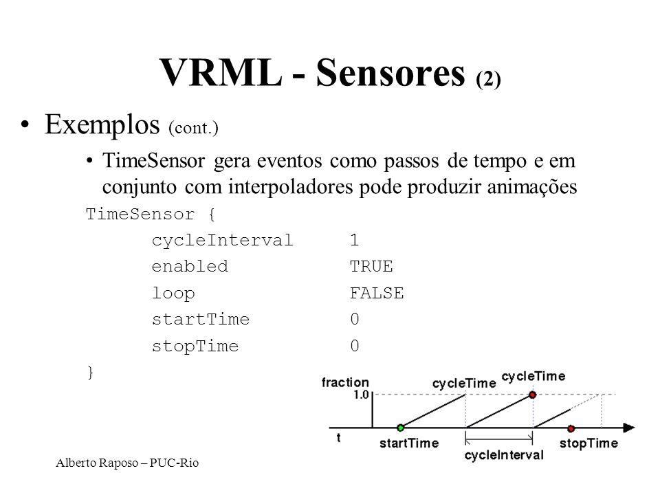 VRML - Sensores (2) Exemplos (cont.)