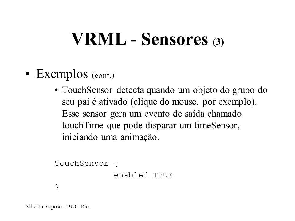 VRML - Sensores (3) Exemplos (cont.)