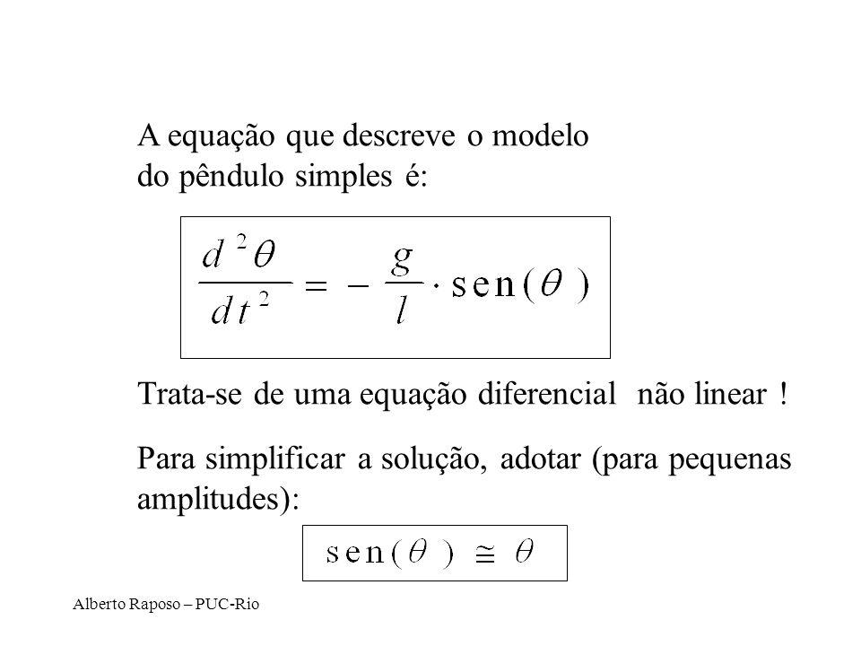 A equação que descreve o modelo do pêndulo simples é: