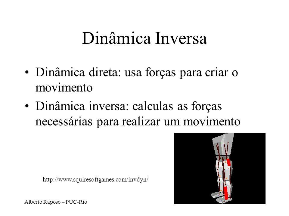 Dinâmica Inversa Dinâmica direta: usa forças para criar o movimento