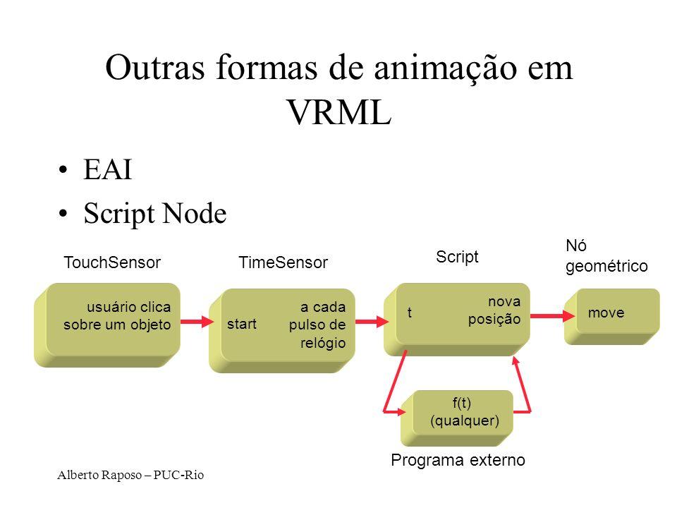 Outras formas de animação em VRML