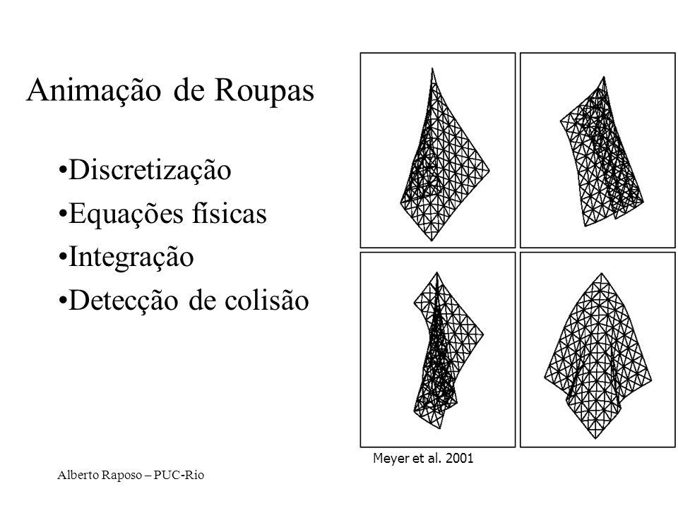 Animação de Roupas Discretização Equações físicas Integração