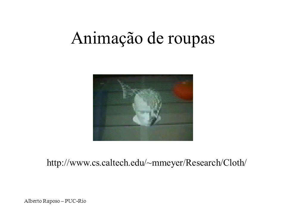 Animação de roupas http://www.cs.caltech.edu/~mmeyer/Research/Cloth/