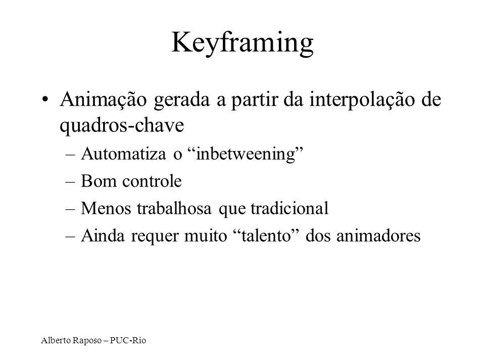 Keyframing Animação gerada a partir da interpolação de quadros-chave